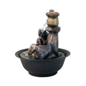 """9.8"""" H Little Waterwheel Tabletop Fountain"""